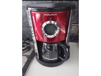 Morphy Richards Red Collection Filter Coffee Machine NEVER USED