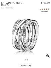 Pandora Entwined ring size 59