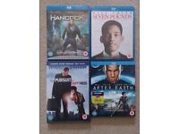 4x Blu-Ray DVD Movies (Will Smith Collection)