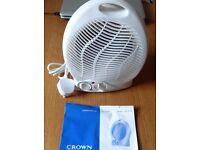 CROWN 2 KW FAN HEATER - BRAND NEW (Unwanted Gift) Vertical Fan, 2 Heat Settings