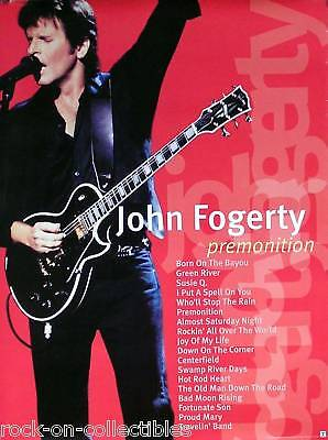 CREDENCE CLEARWATER REVIVAL FOGERTY 1998 PREMONITION ORIGINAL POSTER