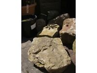 stone and large rocks suitable for use on rockery and / or small wall