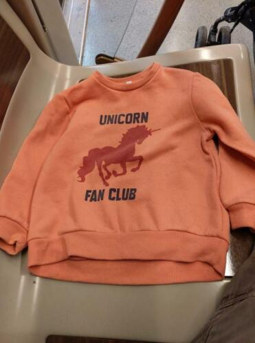 Pull licorne rose taille 3-4 ans