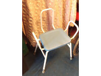 Perching Stool with back & arms