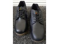 Dr Martens Air Wair Mens Black Safety Shoes - Size 8 - BRAND NEW Steel Toe Cap