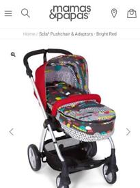 Mamas and Papas Sola Red Pushchair and Carrycot