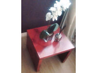 Boudoir Chic Red Square Coffee Table/End/Side Table.