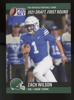 2021 Pro Set XRC 1990 SP Variation Error Zach Wilson Pants Stripe RC Rookie