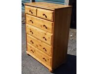 Solid Pine Chest of Drawers /6 drawers/Croydon/Surrey/Can deliver locally