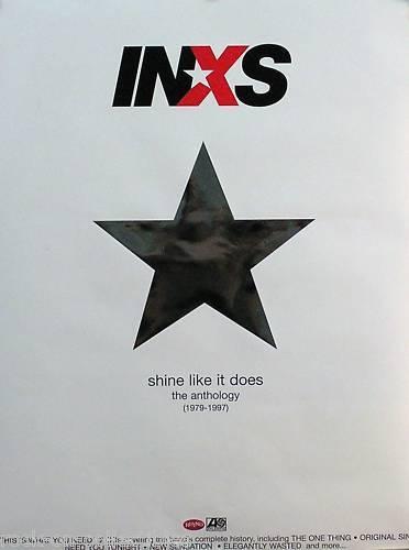 INXS 2001 Shine Like It Does Anthology 1979-1997 Original Double Sided Poster