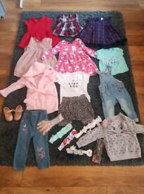 bundle of little girl outfits