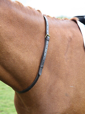 NEW Shires Blenheim Leather Horse Pony Balance Neck Strap - Havana - FREE P&P