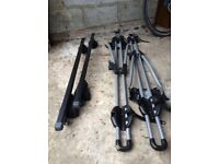 Thule Roof bars and 2 Cycle Carriers