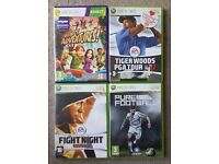 4 XBOX 360 GAMES. ONLY £5.