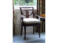 Pair of Mahogany Dining / Occasional Chairs Theodore Alexander