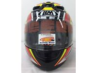 Special Offer New LEM Tornado Carbon Fiber Composite Motorcycle Helmet Was £69.99