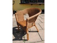 Wicker , split cane Chair