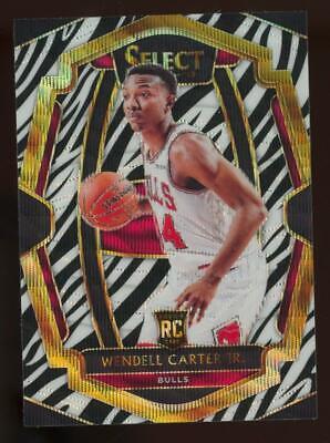 2018 Panini Select Zebra Prizm #162 Wendell Carter Jr RC Rookie SP Case Hit
