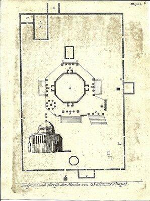 Antique engraving, Mosche von Salomons T. P III