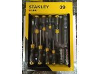 Stanley 39 piece screwdriver /bit set *New*