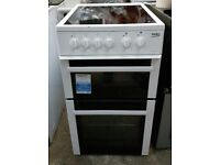 6 MONTHS WARRANTY Beko 50cm, AA energy rated electric cooker FREE DELIVERY