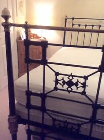 Bed (Victorian cast iron bed circa 1860)