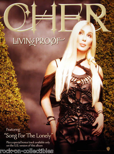 Cher 2002 Living Proof Original Promo Poster