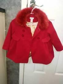 red little girl coat