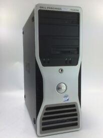 WINDOWS 7 DELL T3400 PRECISION COMPUTER TOWER PC INTEL QUAD 2.83GHz 4GB - 500GB
