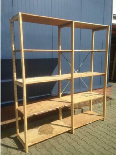 Wonderbaar ≥ Opruiming houten stelling stellingkast magazijnstelling kast MF-15