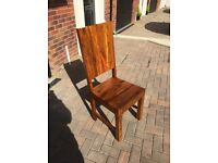 6 x Oak Dining Chairs - high back, very good quality