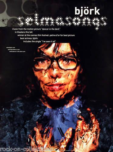 Bjork 2000 Selmasongs Original Promo Poster