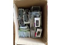 JobLot Box of BlackBerry silicone CASES and SCREEN PROTECTORS(by Pro-TEC) for 8520, 9300, Q10