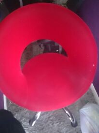 Funky red chair