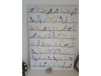 Picture holder large picture board with birds