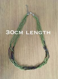 Handmade green necklace