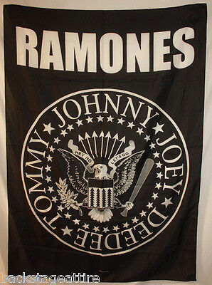 Ramones Eagle Tommy Joey Johnny Deedee Cloth Poster Flag Fabric Tapestry-New!
