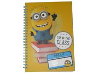 NEW Despicable Me Minions A5 Spiral Bound Notebook Note Book