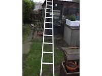 13ft single aluminium ladder