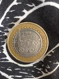 2 pound coin R.trevithick 1804-2004