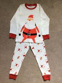 Childrens Father Christmas Pyjamas. Age 5-6 Years.