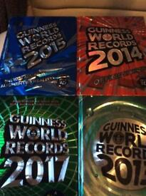 4 large hardback Guinness world record books