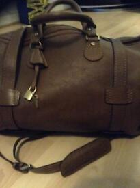 Mulberry brown luggage bag