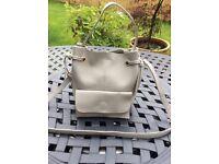 Handbag. Women's PU Leather 2pc Handbag - Wallet Set. Brand New. Light Grey. Detachable Strap.