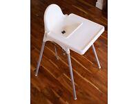 White baby high chair IKEA
