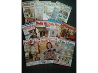 Large quantity of dolls house and miniaturist magazines for sale