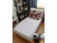 White Sofa Divan/Bed - Ikea - £35