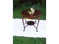 Antique Edwardian furniture Polished mahogany 2 tier side hall occasional Table Excellent condition