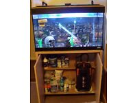 Fluval fish tank 125Lts with fish and cabinet