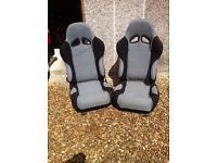 Pair of bucket seats